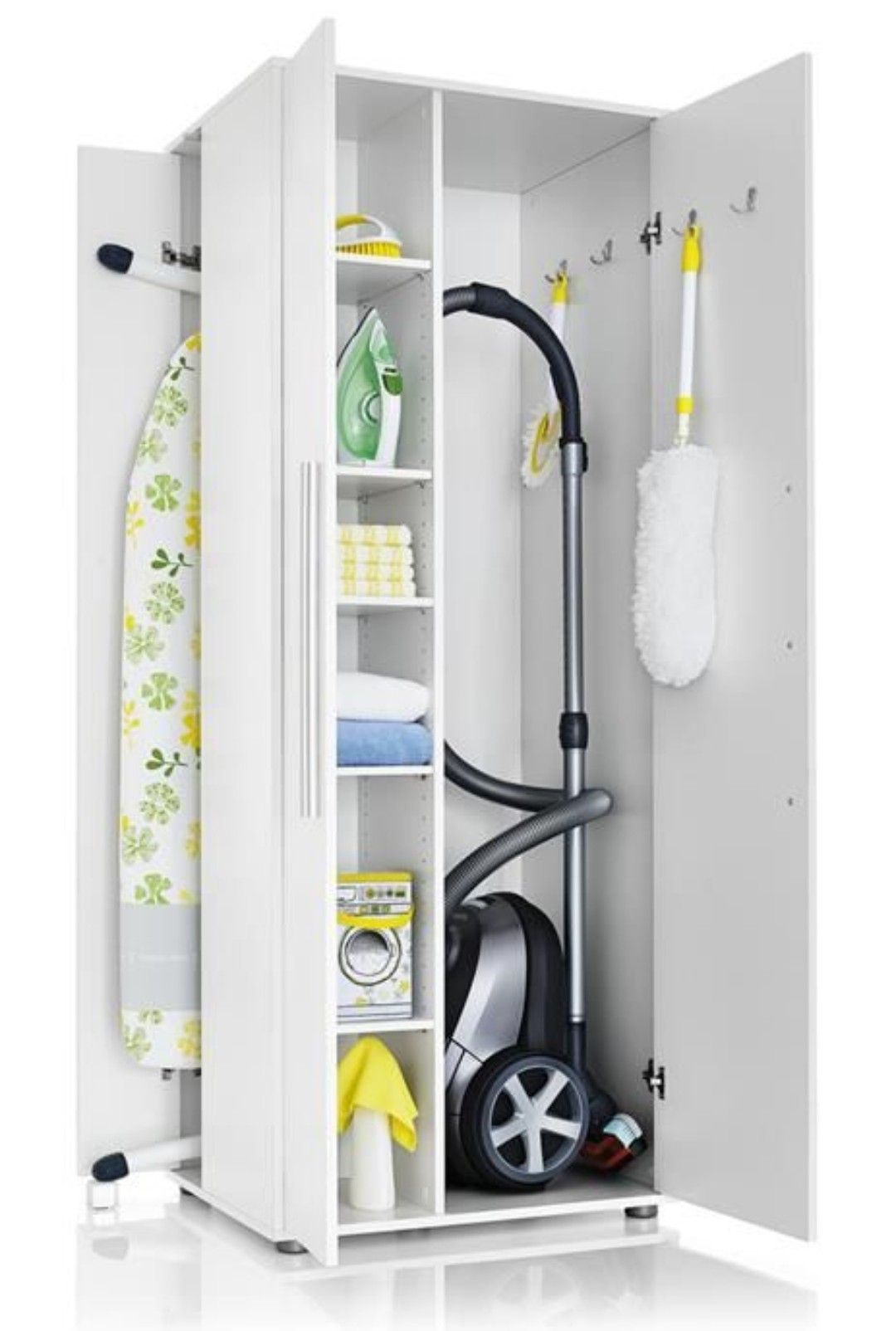 Armadio Per Scope Ikea.Vedere Soluzione Per Asse Da Stiro E Aspirapolvere Arredamento Lavanderia Arredamento Arredamento D Interni