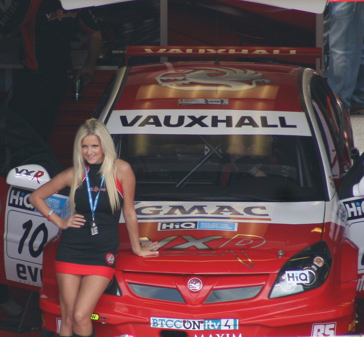 Vauxhall Grid Girl Posing Vauxhall Grid Girls Btcc