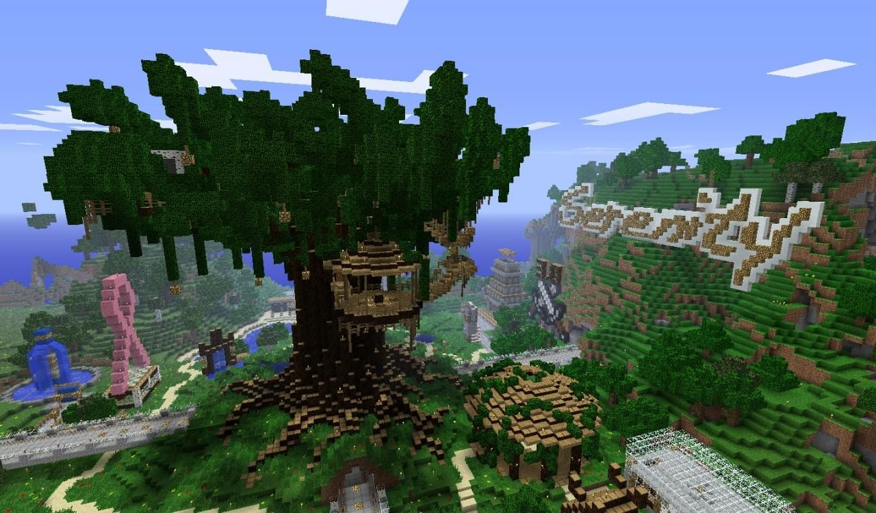 Serenity Treehouse Minecraft Project Minecraft Projects Tree