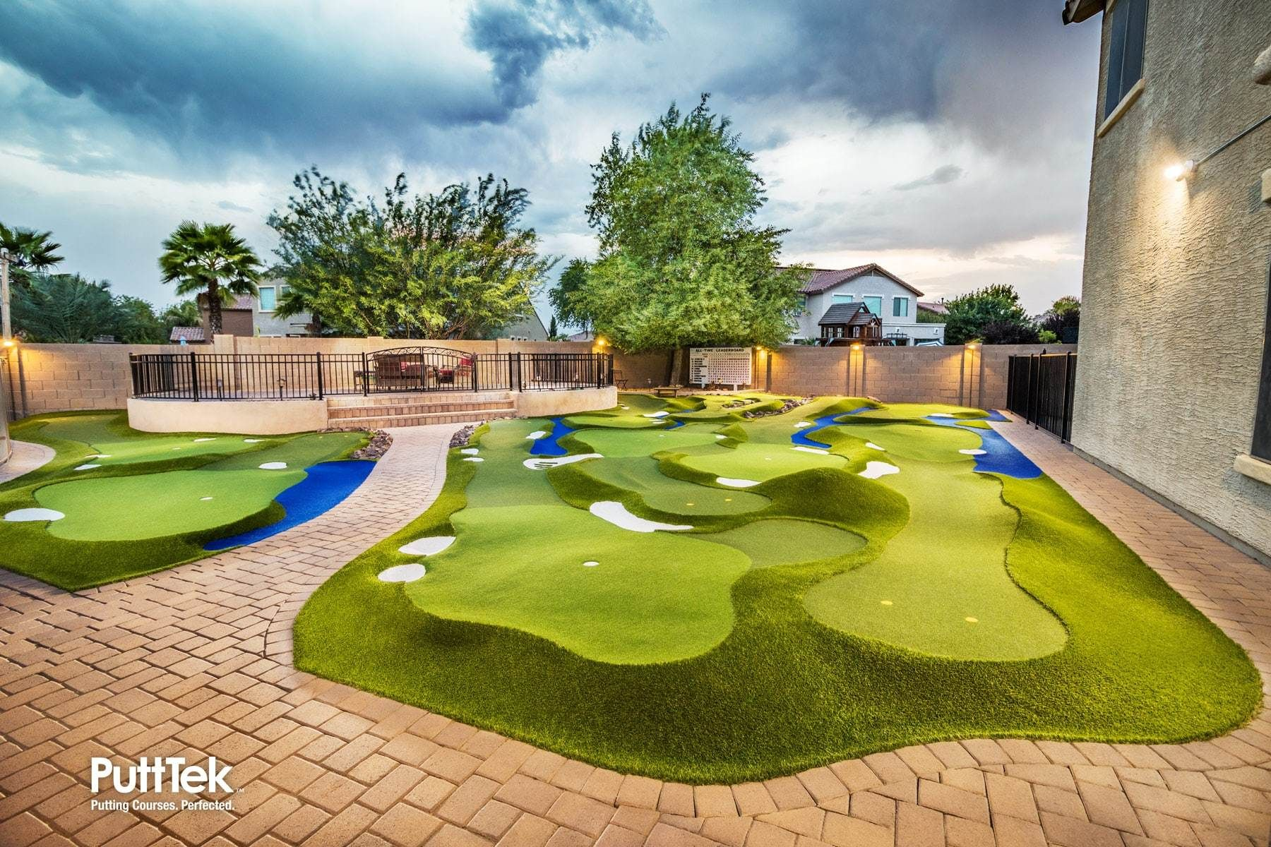 DESIGN | PuttTek | Hardscape, Backyard, Golf courses