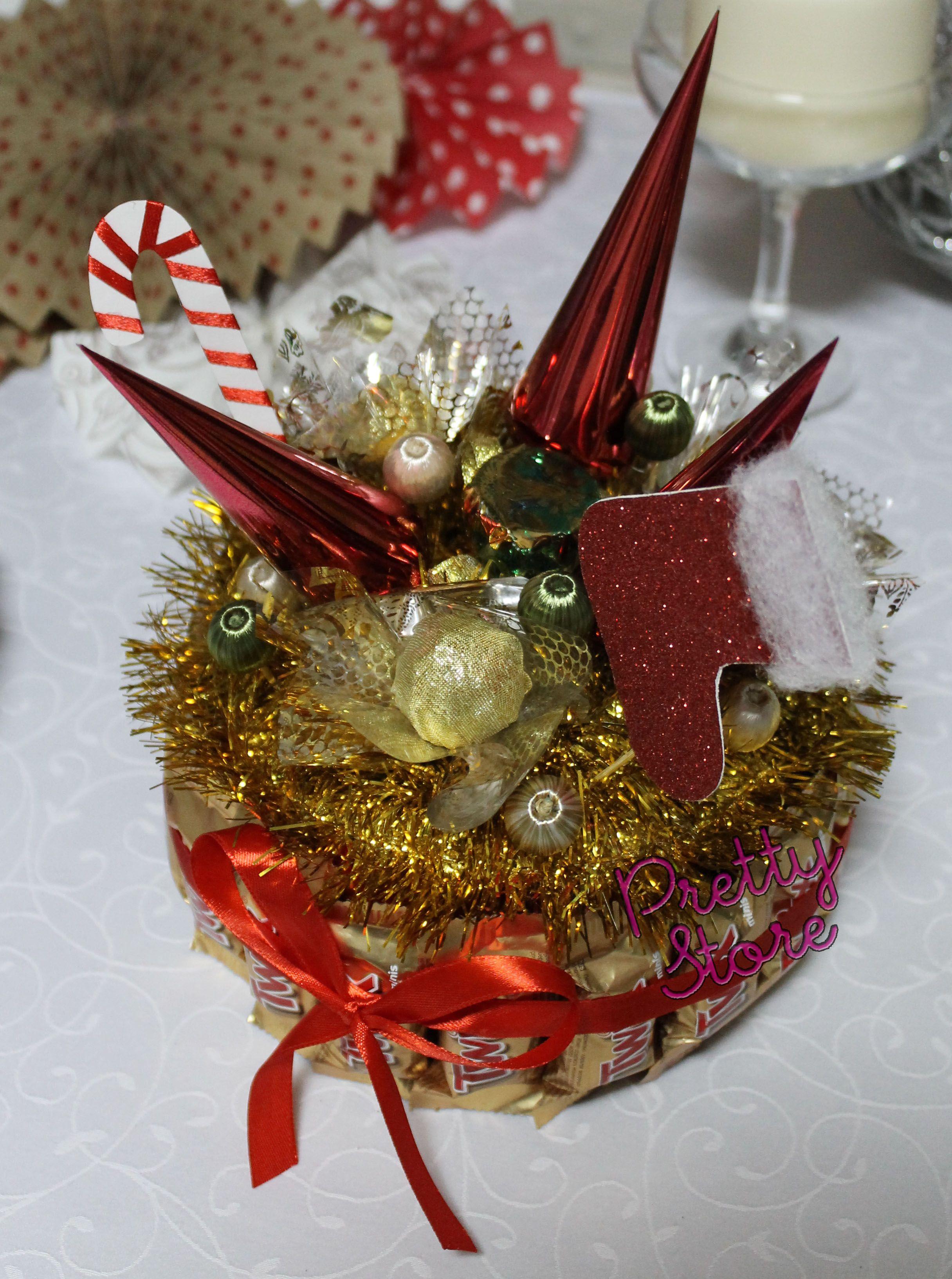 Новогодние композиции из конфет своими руками фото 549