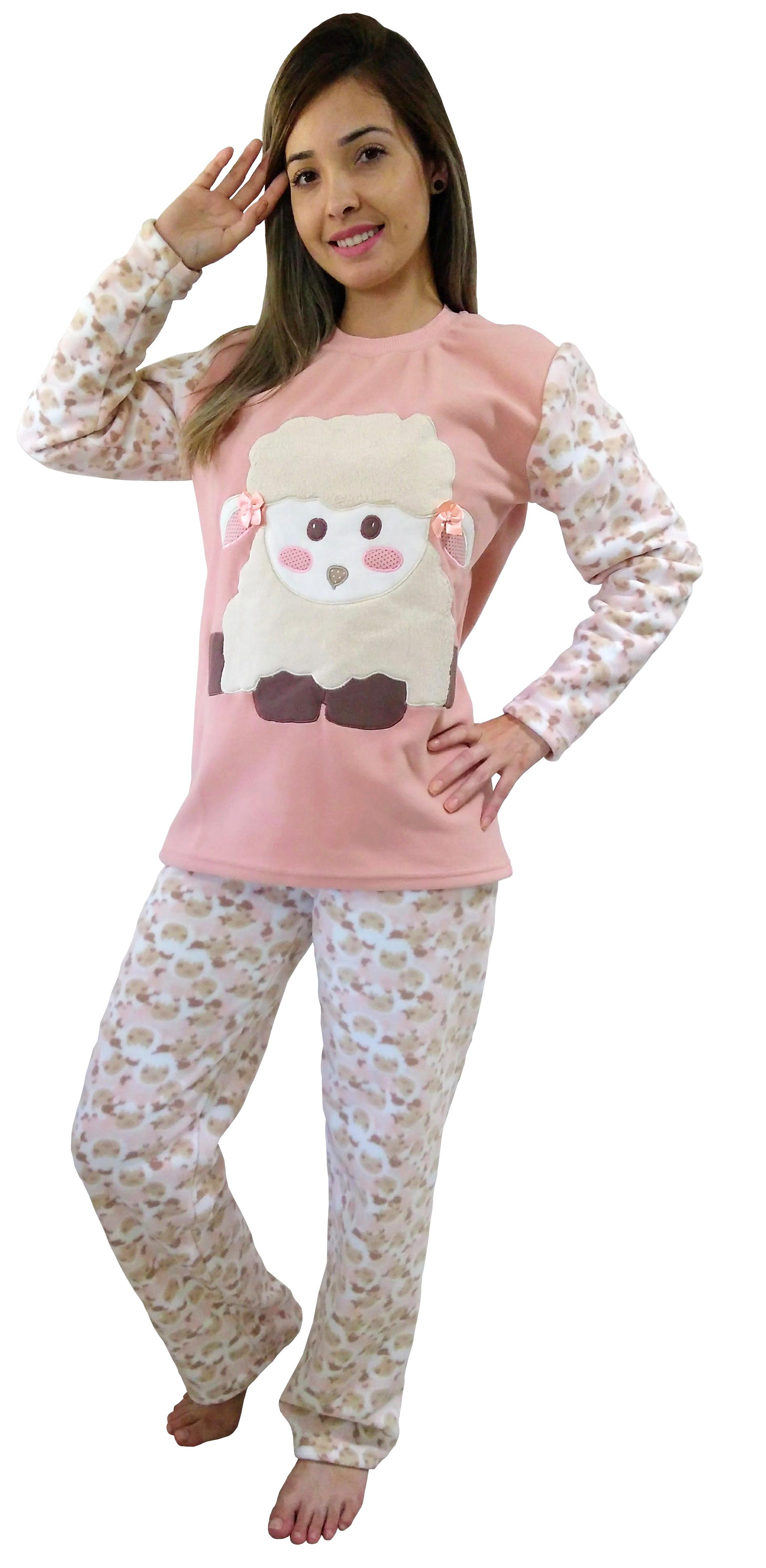 f140355ed Um mimo de pijama! Malha em soft de ótima qualidade e bordado de ovelha  feito