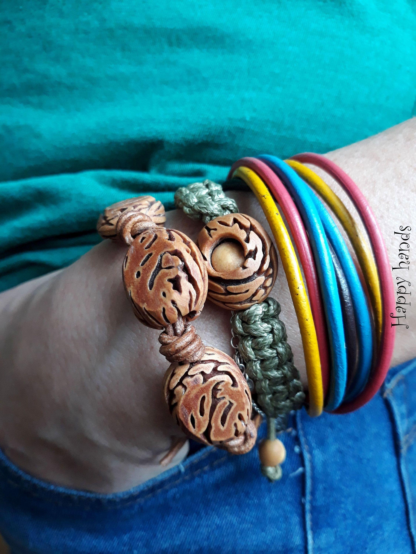 Natural Bracelet Bransoletka Naturalna 4 Korale Na Prezent Na