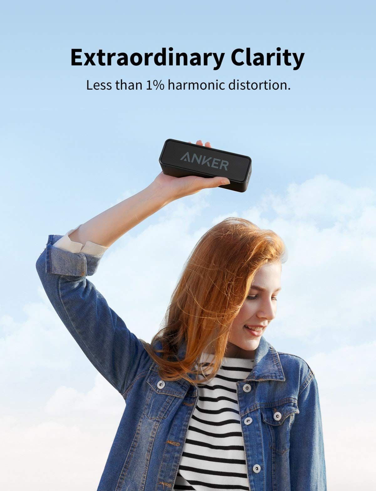 Anker Soundcore Bluetooth Speaker With Loud Stereo Sound Rich Bass 24 Hour Playtime Bluetooth Speakers Portable Wireless Speakers Portable Bluetooth Speakers