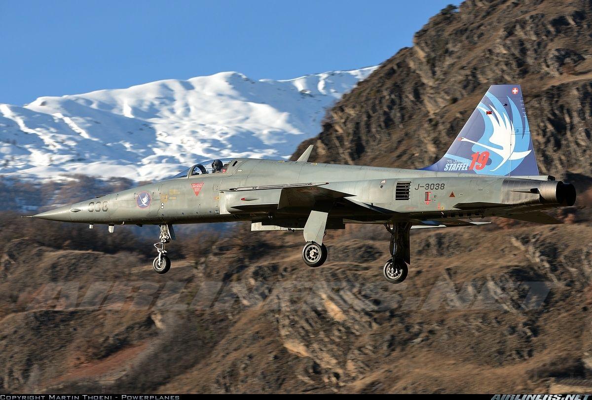 Switzerland - Air Force; Northrop F-5E Tiger II; J-3038 (cn L1038); 75 years of squadron 19.