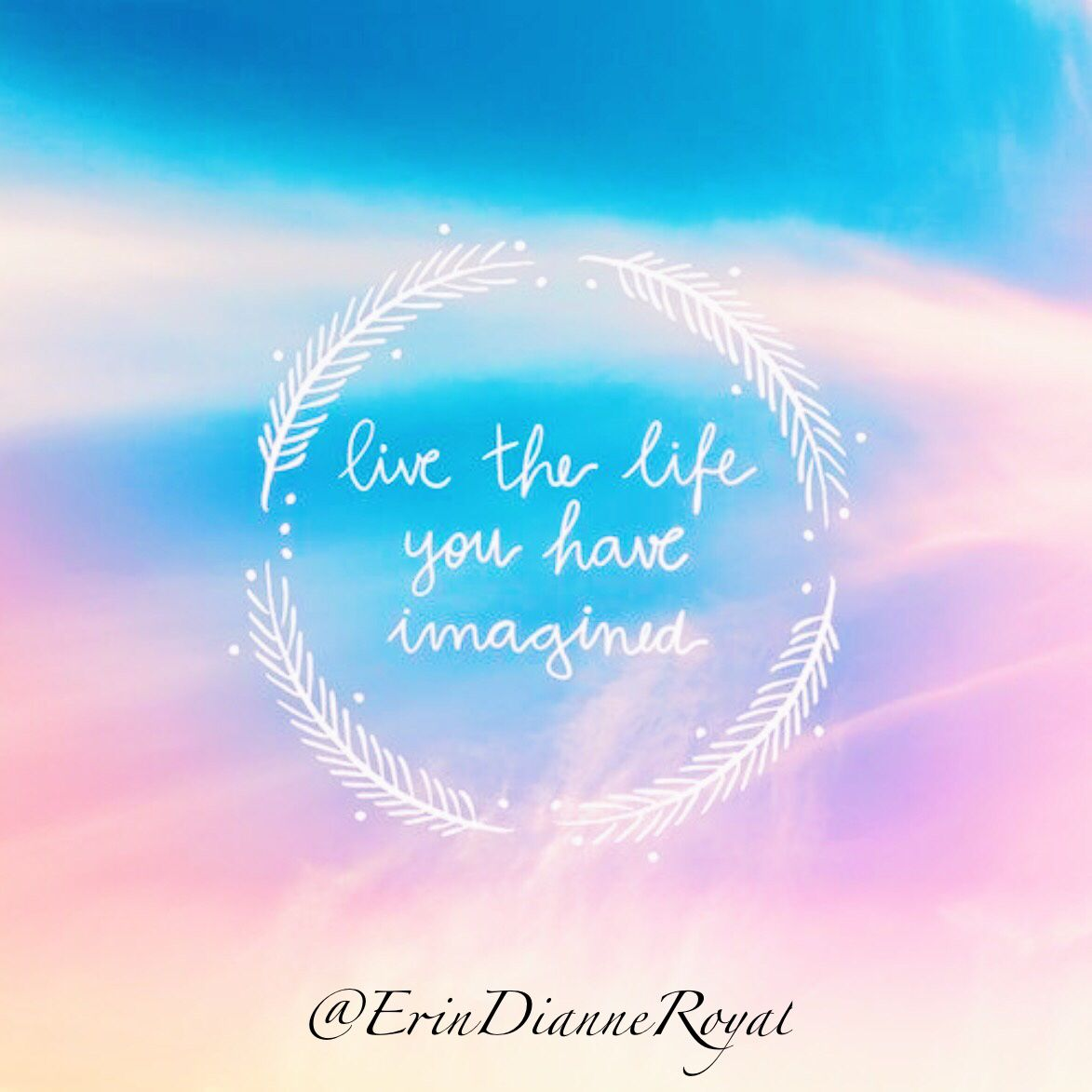 Live the Life you Want to Live Quote. Love the background