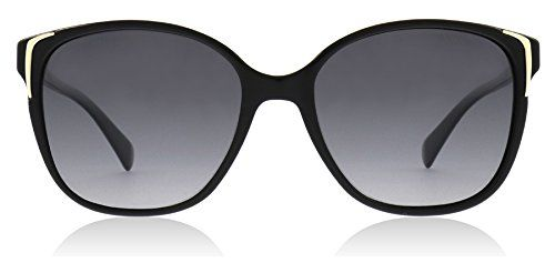 76e6d5f16b5 Prada PR01OS 1AB5W1 Black PR01OS Butterfly Sunglasses Polarised Lens  Category 3