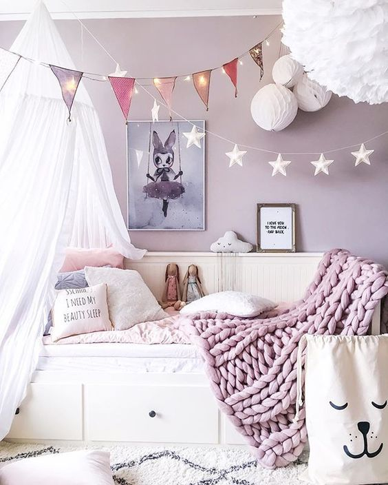 Contemporary Light Purple Bedroom Ideas For Small Room Purple