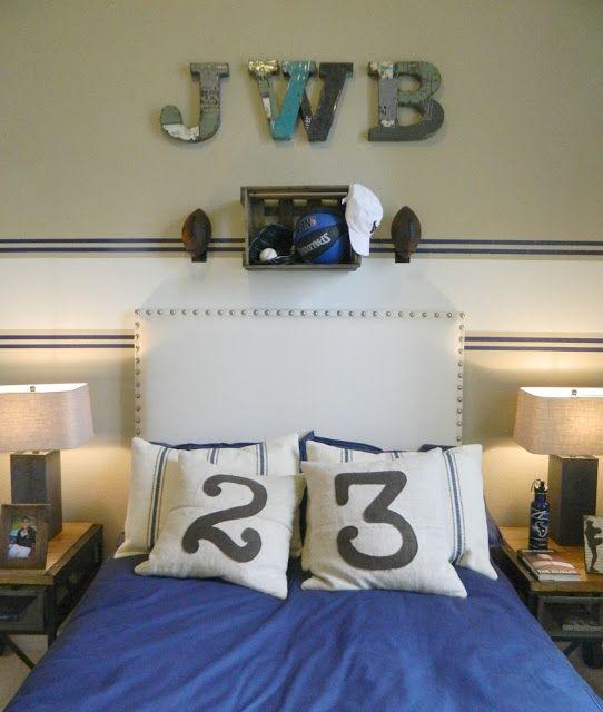 Boys Bedroom, Industrial, Sports, Football, Basketball