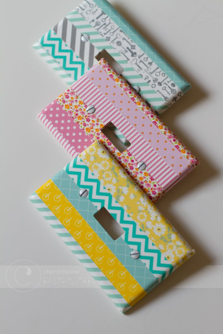 Washi Tape Light Switch Covers Uses for