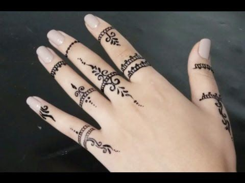 ابسط نقش الحناء للاصابع Youtube Small Henna Tattoos Henna Tattoo Designs Simple Henna Tattoo Hand