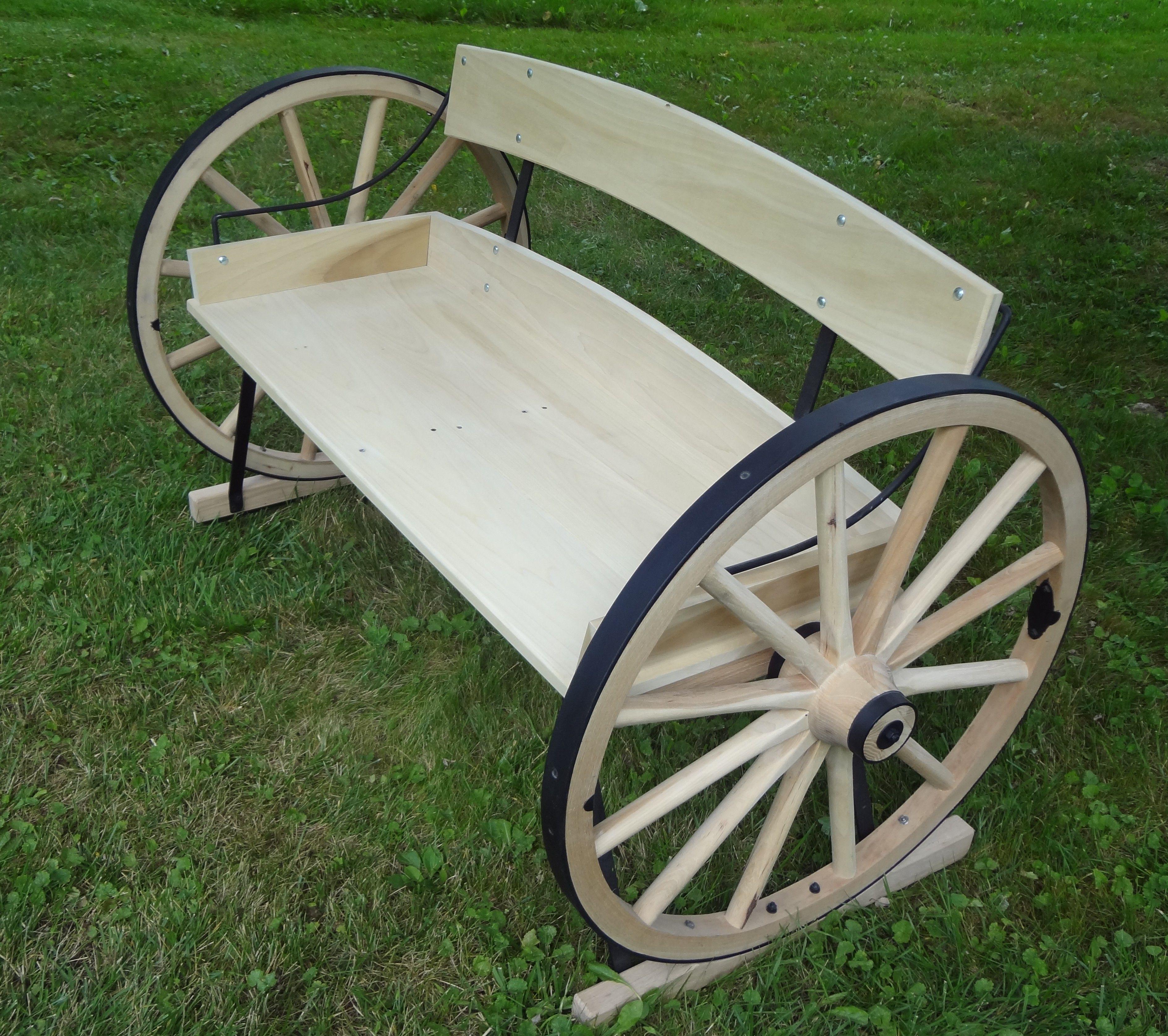 Wagon Wheel Bench In 2019 Goods