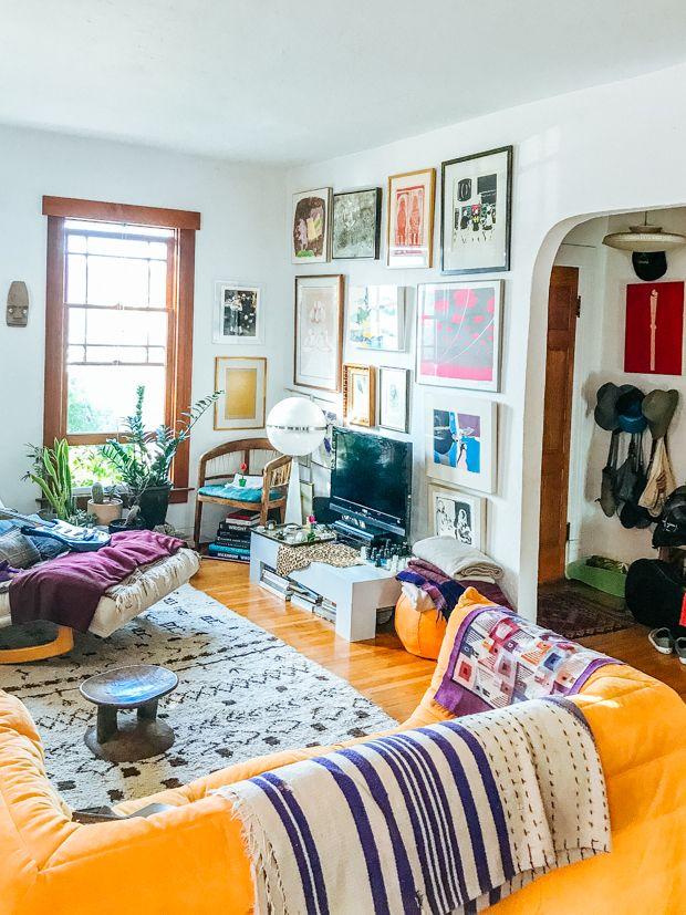 Shayne S Vintage Modern Living Room Justina Blakeney Eclectic Living Room Colorful Eclectic Living Room Vintage Modern Living Room