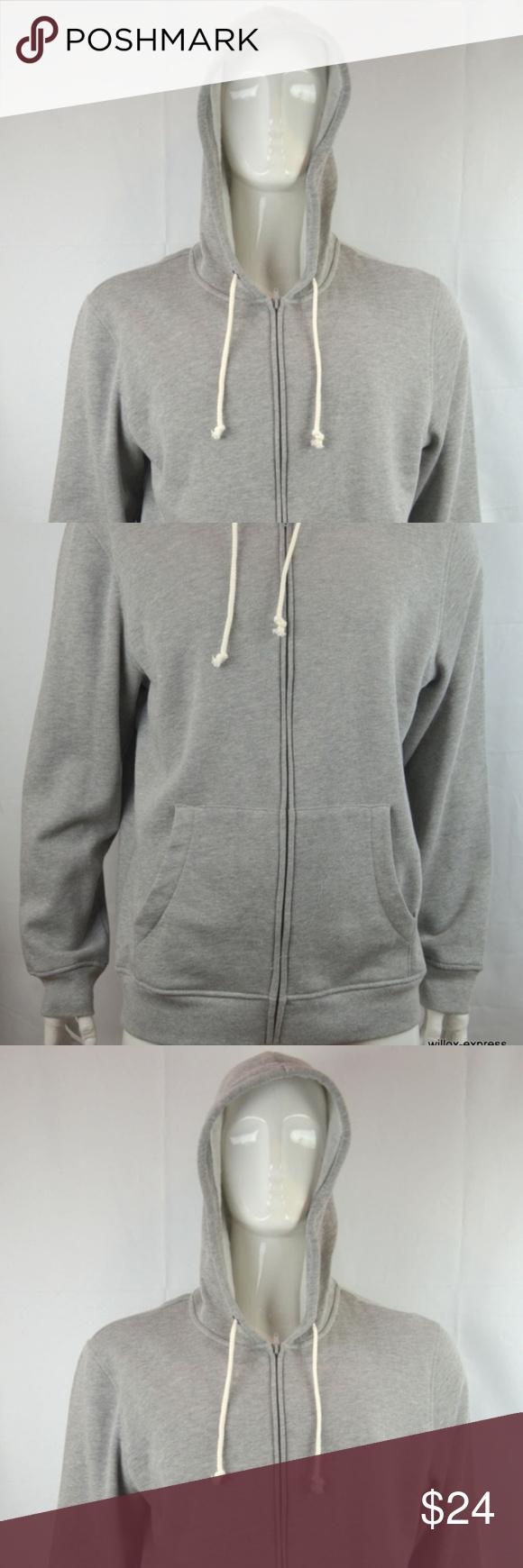 American rag fleece hoodie menus xl gray heather nwt my posh