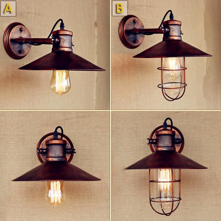 Lamps & Shades Considerate Modern Vintage Loft Wall Light Industrial Clear Glass Lampshade Free Adjust Long Swing Arms For Living Room Restaurant Bar E27 Wall Lamps