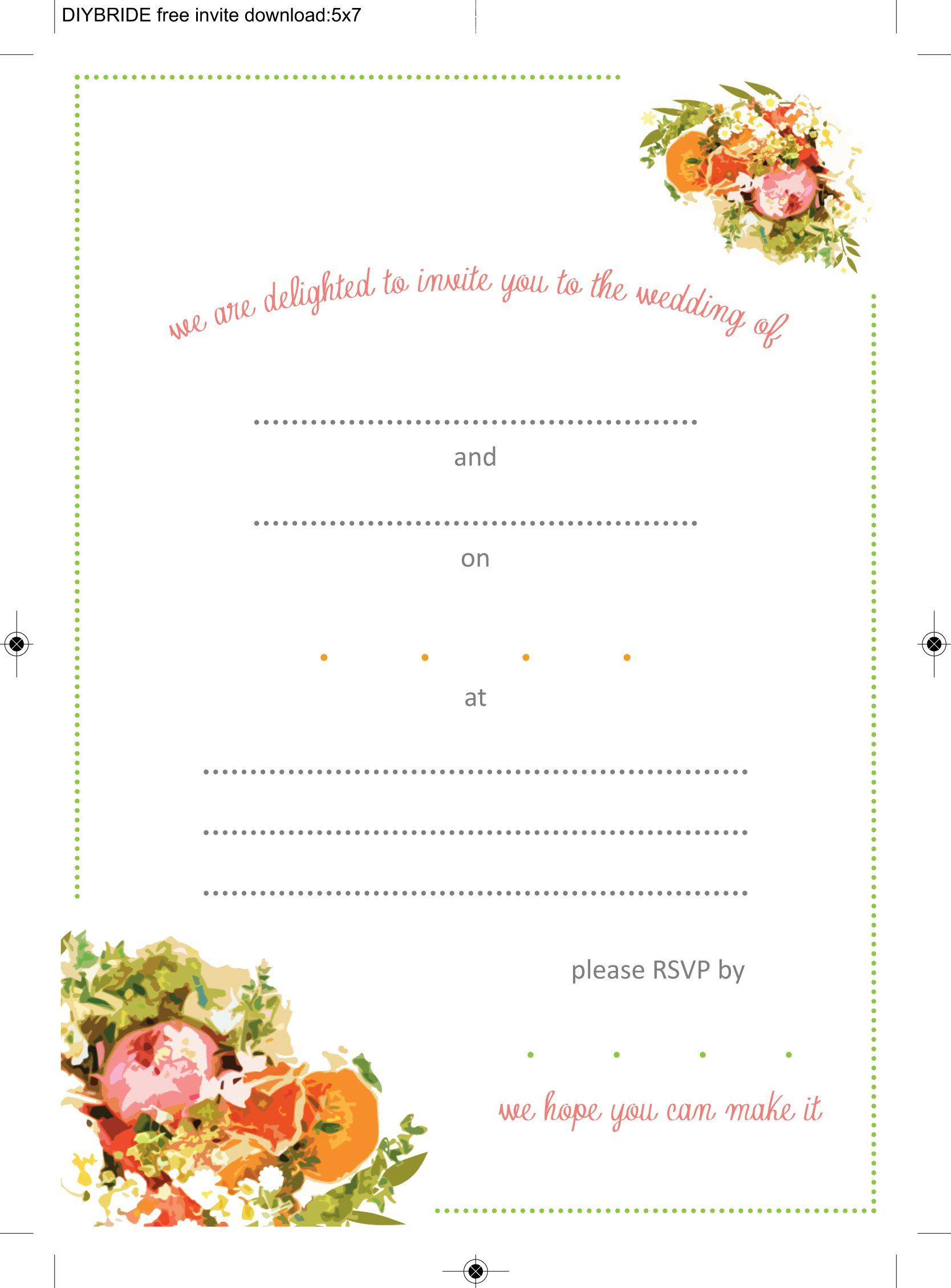 Wedding Invitation Templates Free Templates | Invitations Card by ...