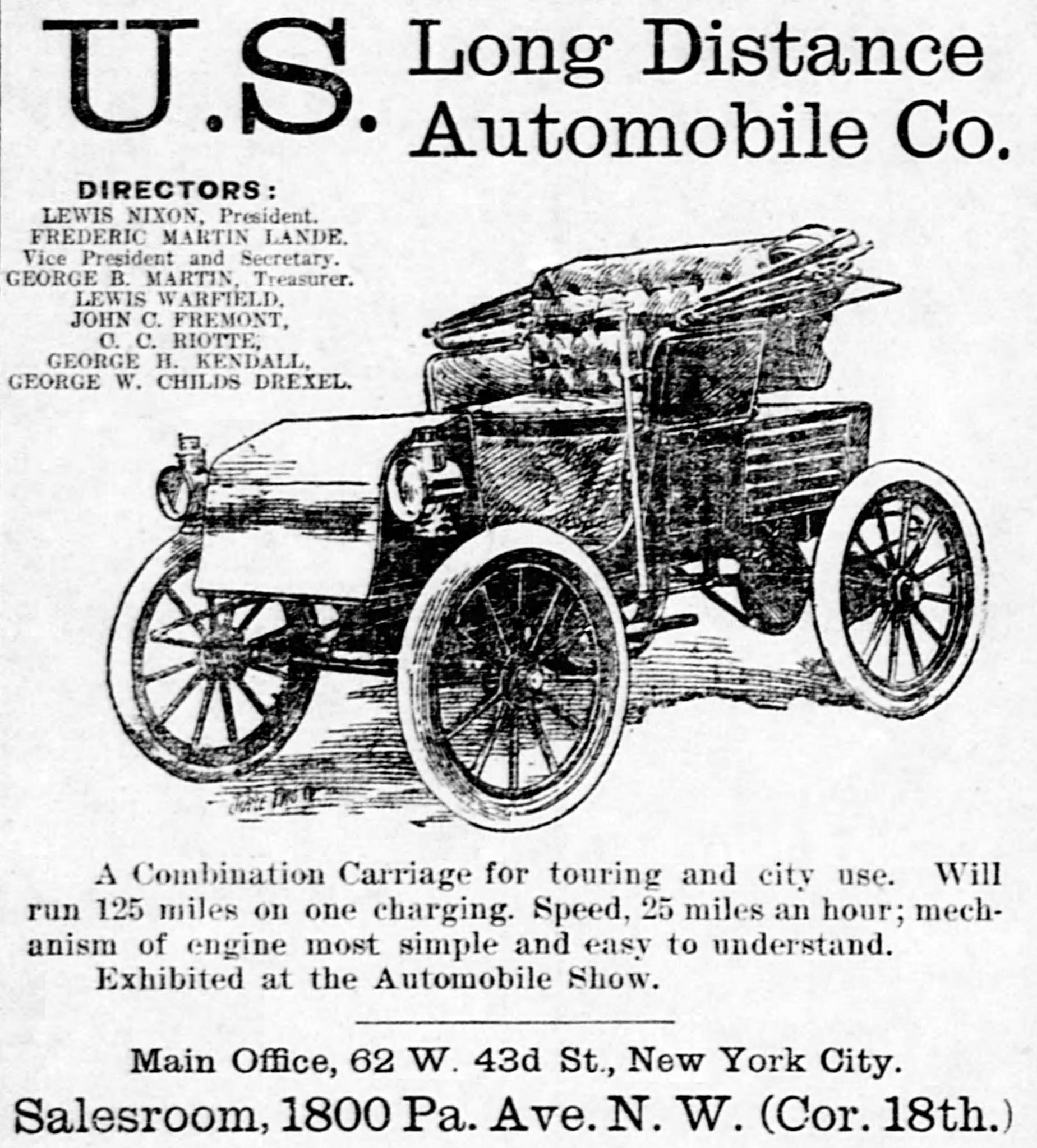 Vintage Newspaper Advertising For The 1902 U.S. Long Distance ...