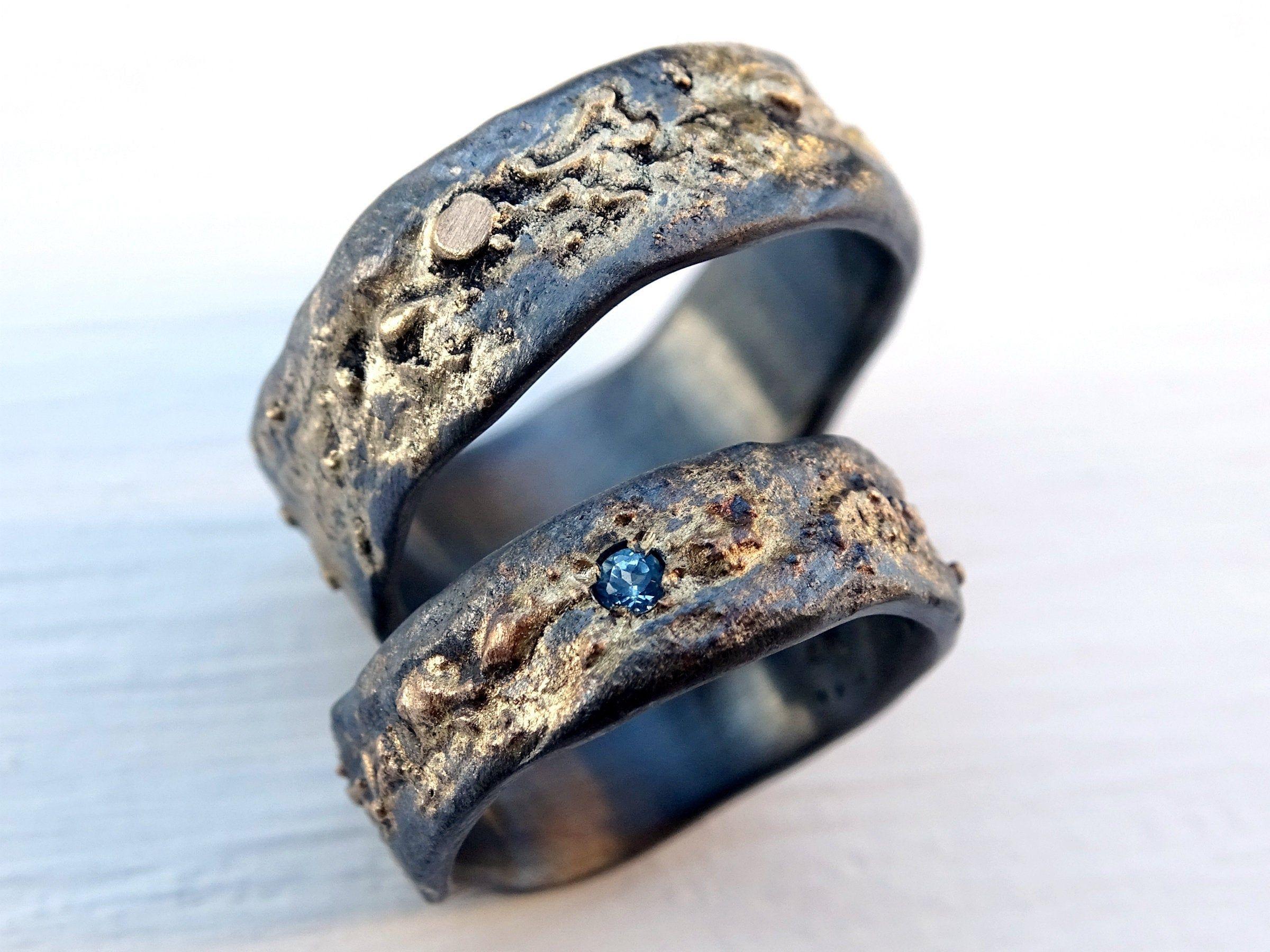 WikingerHochzeitsbandSet, passende Eheringe gold Silber