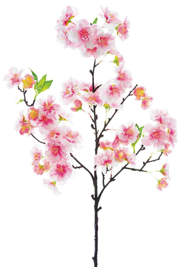 Pink Cherry Blossom Spray Spring Faux Flowers Afloral Com Cherry Blossom Flowers Silk Flowers Blossom Flower