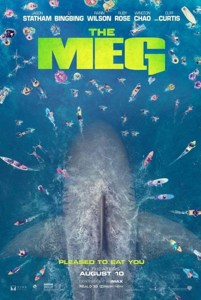 The Meg - original DS movie poster - 27x40 D/S Adv Giant Shark Megalodon   Pinterest   Megalodon ...