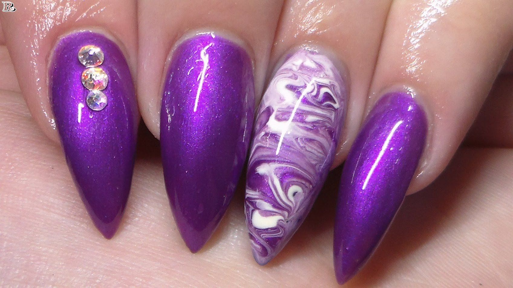 Gel purple nail designs for summer nails pinterest purple nail