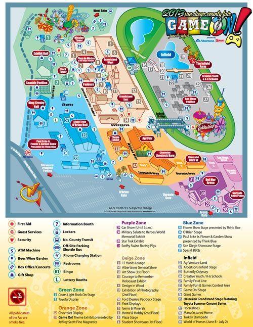 Del Mar Fair Map San Diego County Fair Runs June 8   July 4! | America's Finest