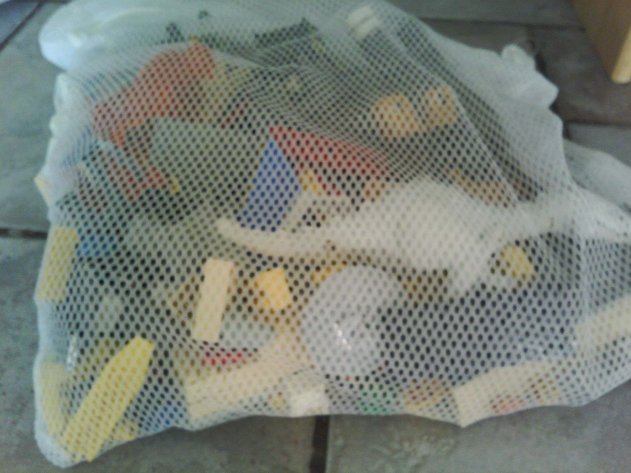 How To Easily Clean Legos And Small Toys Fill Laundry Mesh Bag