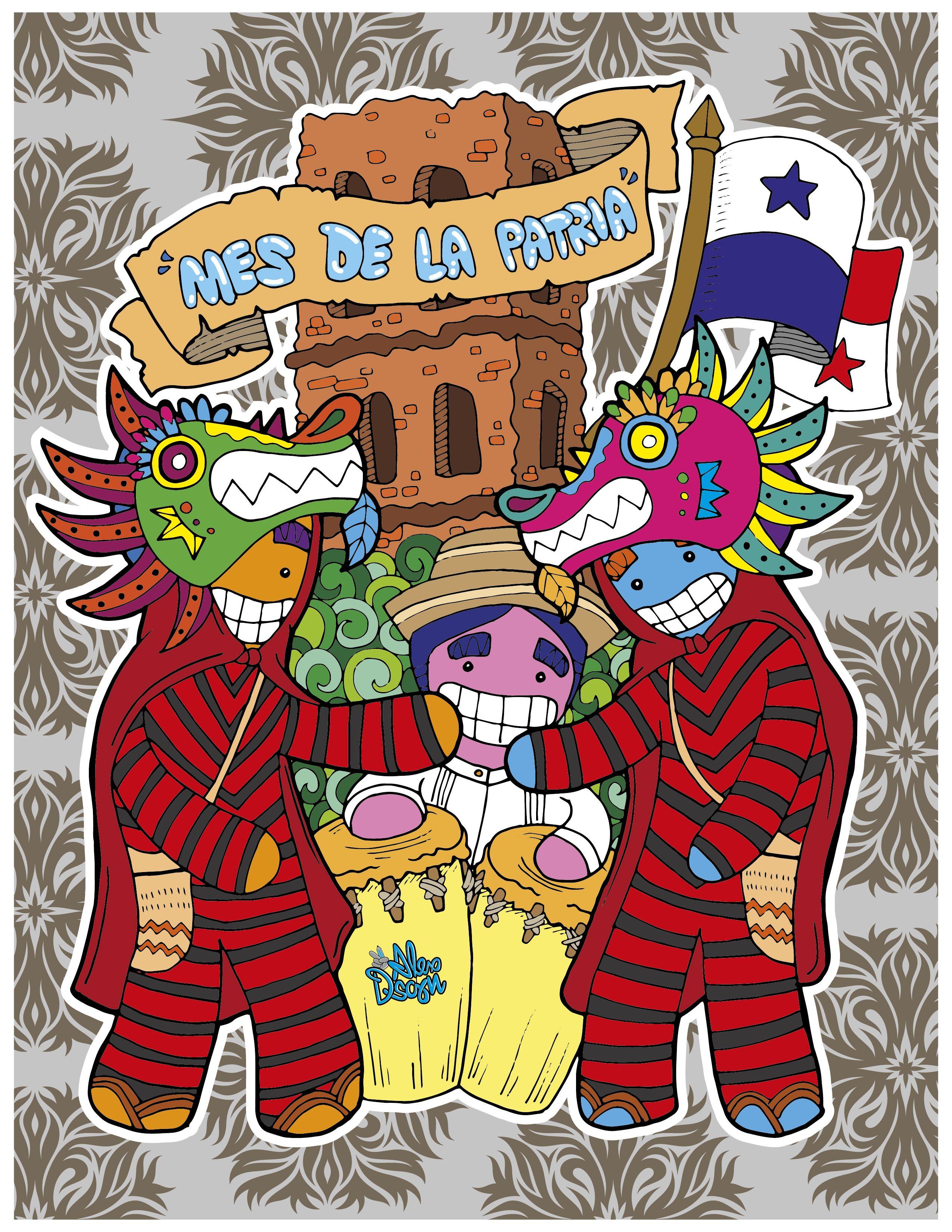 Mes De La Patria By Alexdsgn Graffiti Art Illustration