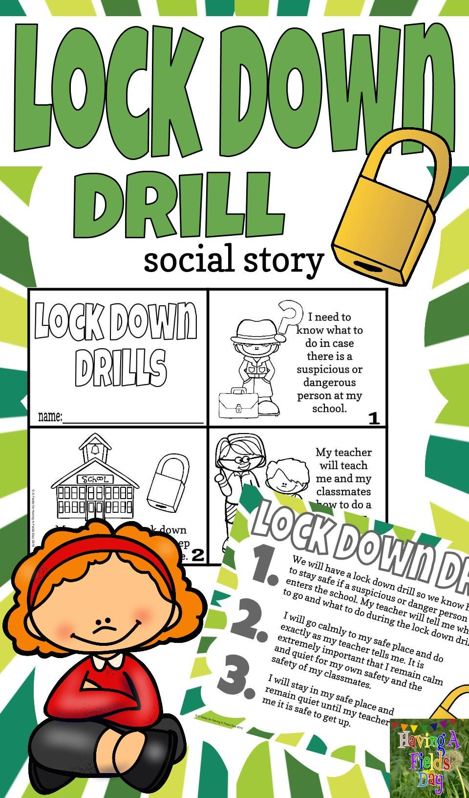 Social Story I Lockdown I Back To School I Autism Resources I School Drills I Lock Down Drill S Can Be Scary Social Stories Emergency Prepardness School Safety