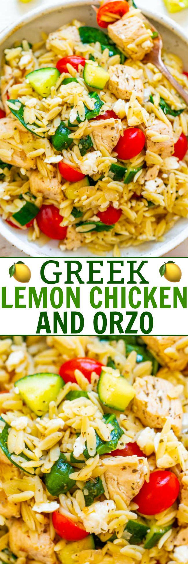 Greek Lemon Chicken and Orzo - Averie Cooks