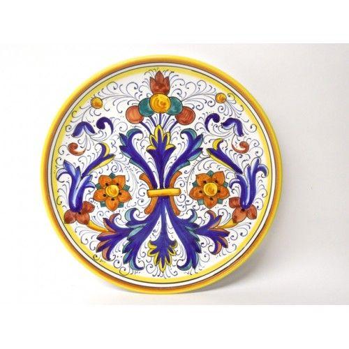 Classical Ricco Deruta 9.5\  Dinner Plate - Italian pottery from Bonechi Imports  sc 1 st  Pinterest & Classical Ricco Deruta 9.5\