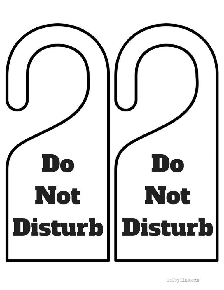 Do Not Disturb Door Hanger Free Printable Printable Signs Free Door Hanger Template Templates Printable Free