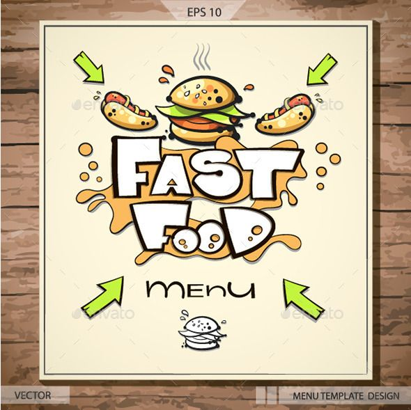 Fast Food Menu Template Food menu template, Fast food menu and - menu design template