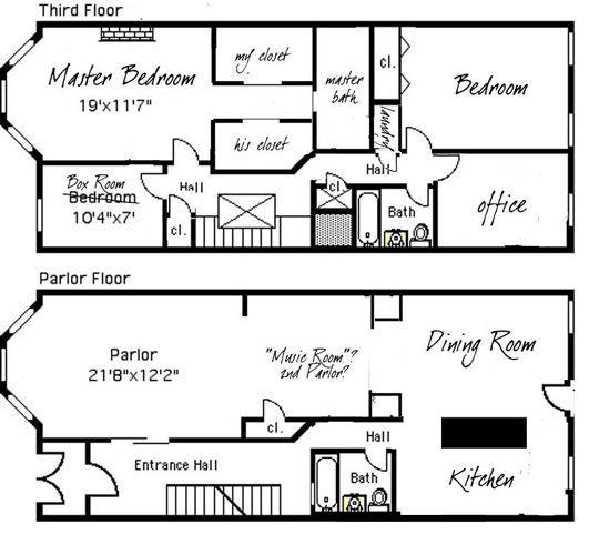 Stefanie Luke S Brooklyn Limestone Town House Floor Plan Floor Plans Bungalow Floor Plans