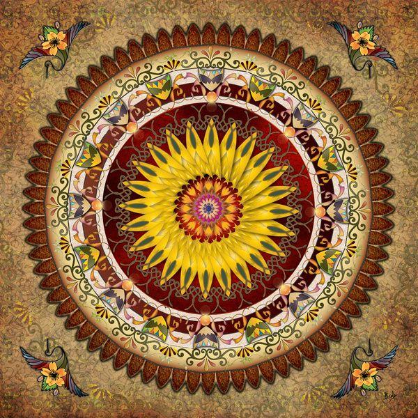 Mandala Sunflower by Bedros Awak