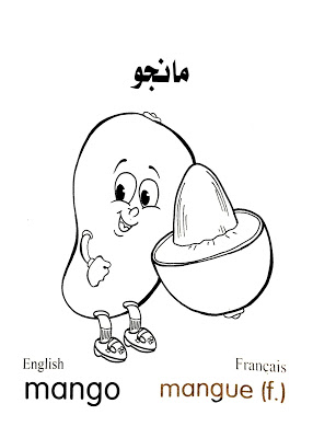Mango Mangue مانجو رسومات خضروات وفاكهة للتلوين مع الأسماء عربي وانجليزى وفرنساوى In 2021 Art Color Fictional Characters