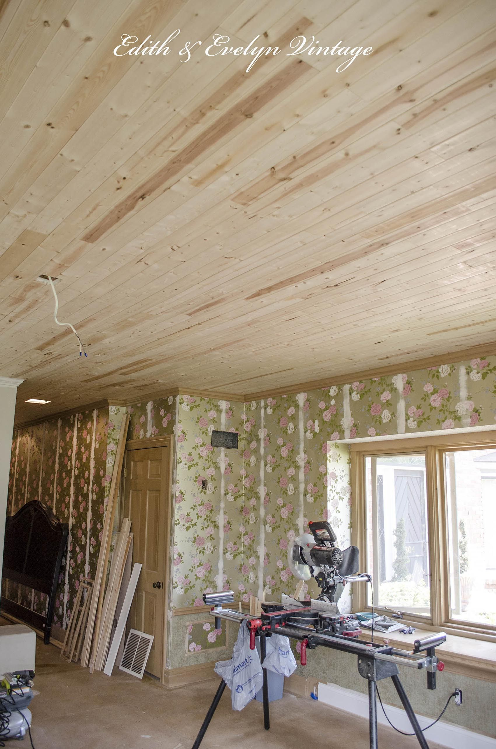 Best How To Plank A Popcorn Ceiling The Easy Way With Wood 400 x 300