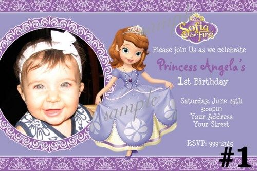 Cool Princess Sofia Birthday Invitations Ideas Download this - free first birthday invitation template