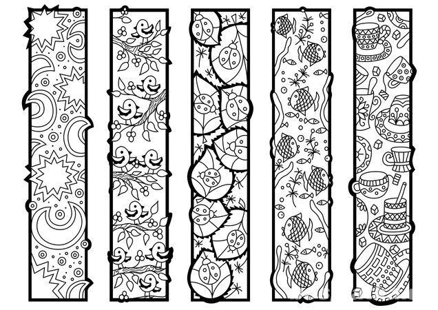 Закладки раскраски-антистресс   Colorear, Mandalas y Día de