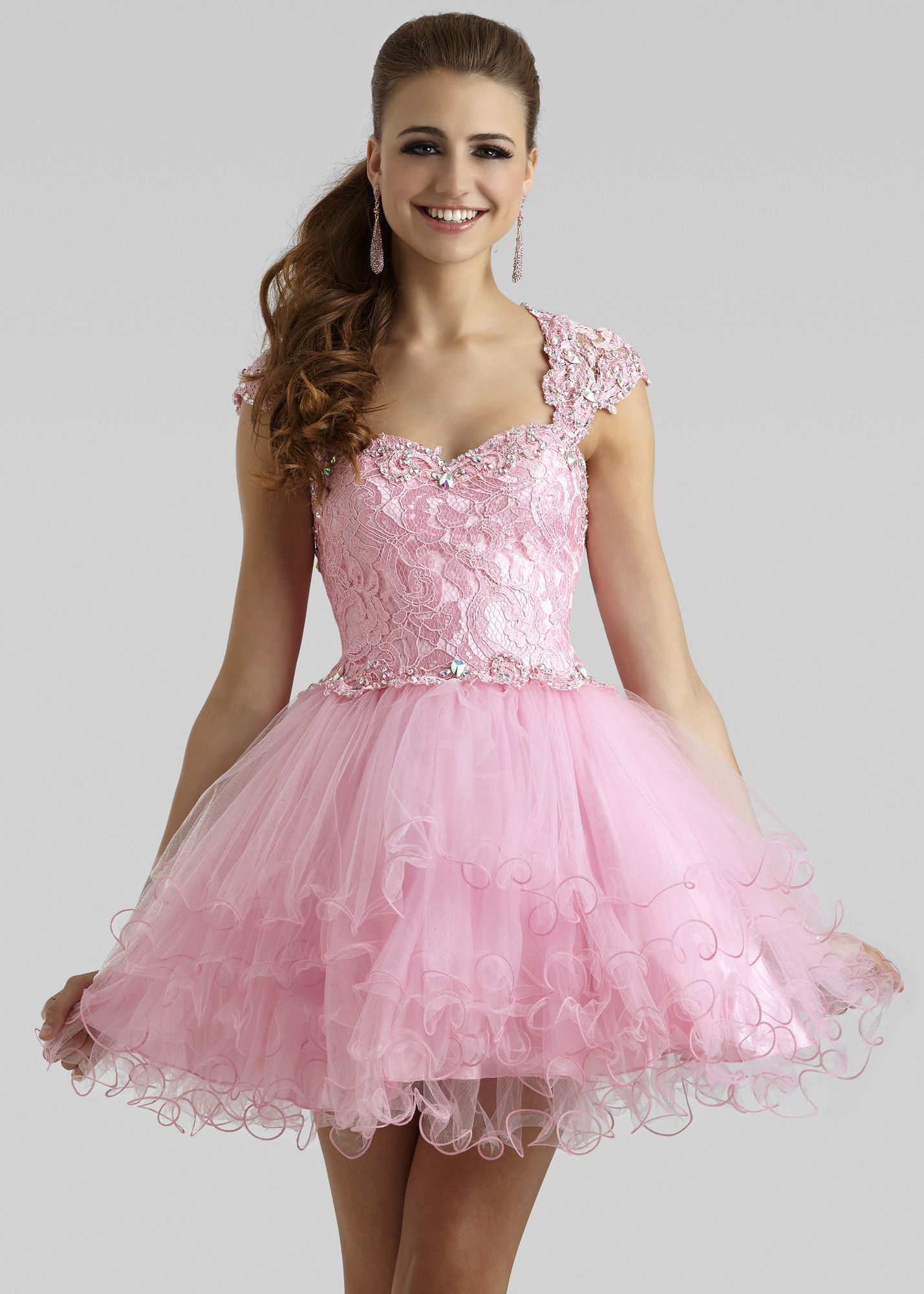 Clarisse 2332 - Princess Pink Lace Short Prom Dress | Fancy | Pinterest