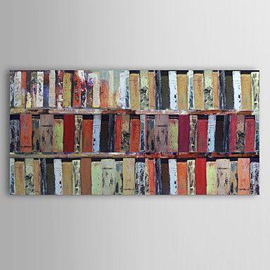 pintura a óleo estante com moldura abstracta esticado pronto para pendurar telas pintadas à mão – BRL R$ 143,48