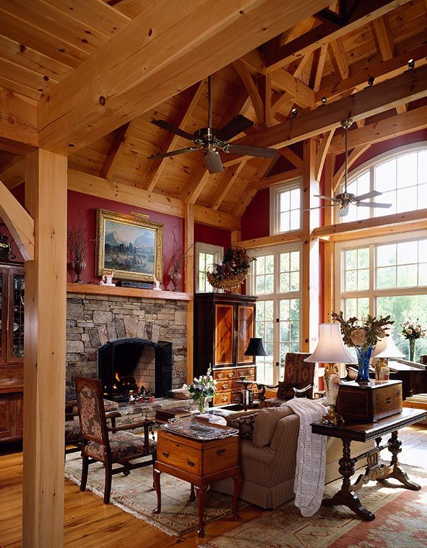 Mill Creek Designed Timber Frame Great Rooms | House Ideas - Living ...