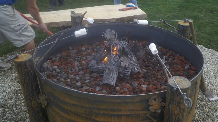 Fire pit by terrance martin of jagged edge metal design for Martin metal designs