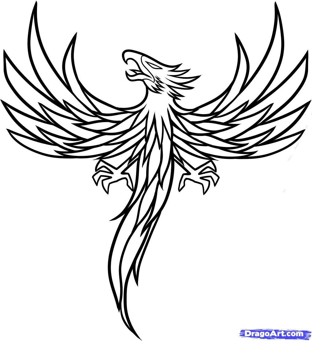 Simple Phoenix Tattoo Designs How to draw a phoenix tattoo | Simple ...