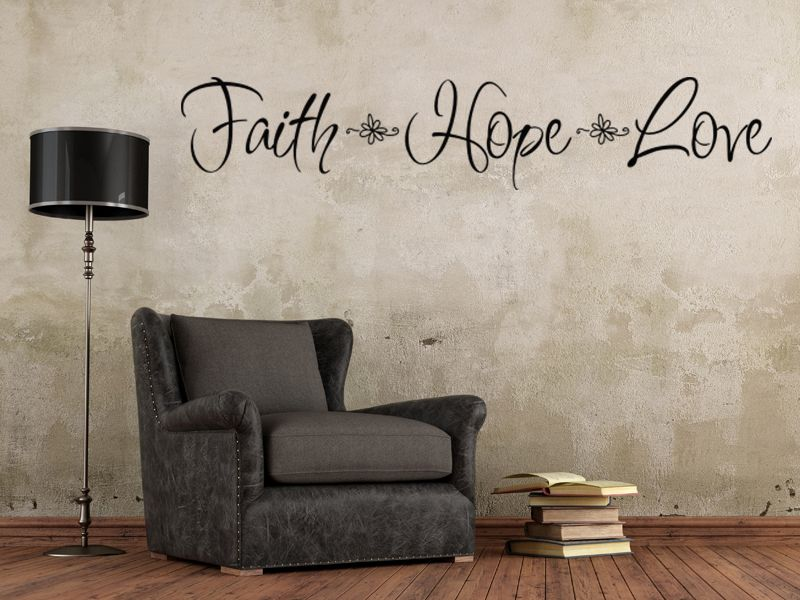 Mix Wholesale Order Faith Hope Love Wall Sticker Quote