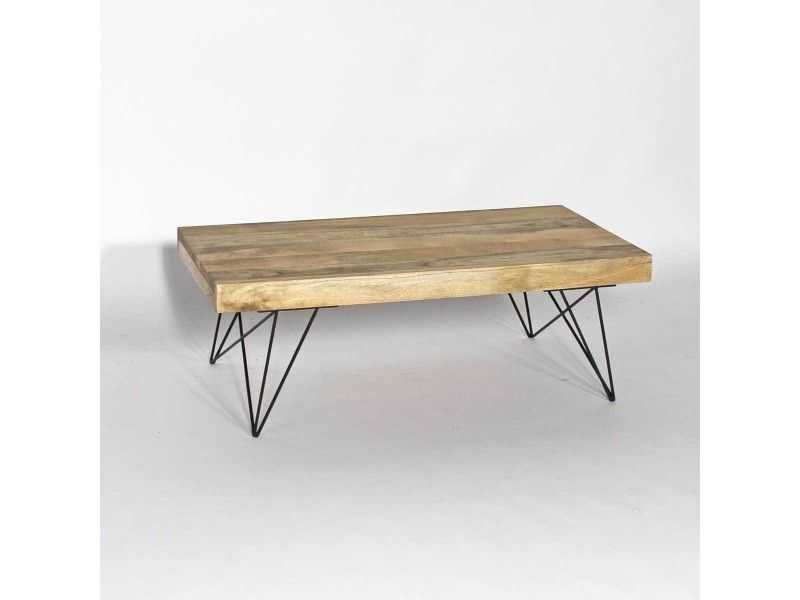 Table Basse Bois Metal Style Scandinave Bt0278x Genial De Table
