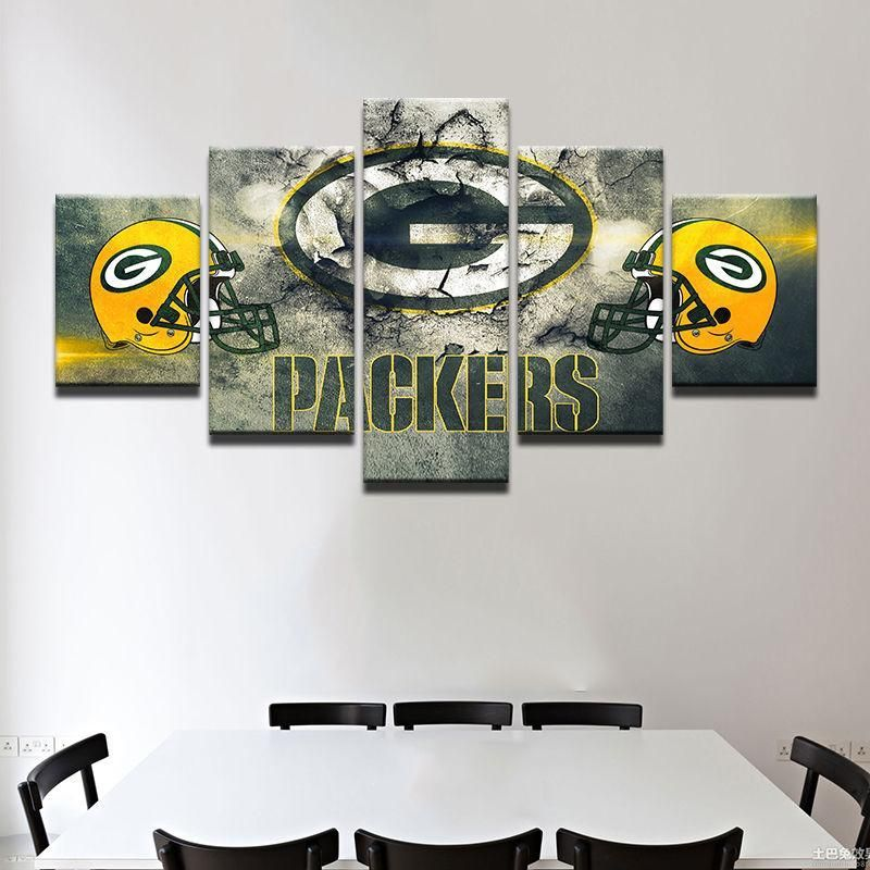 Green Bay Packers Canvas Wall Art Cheap For Living Room Wall Decor