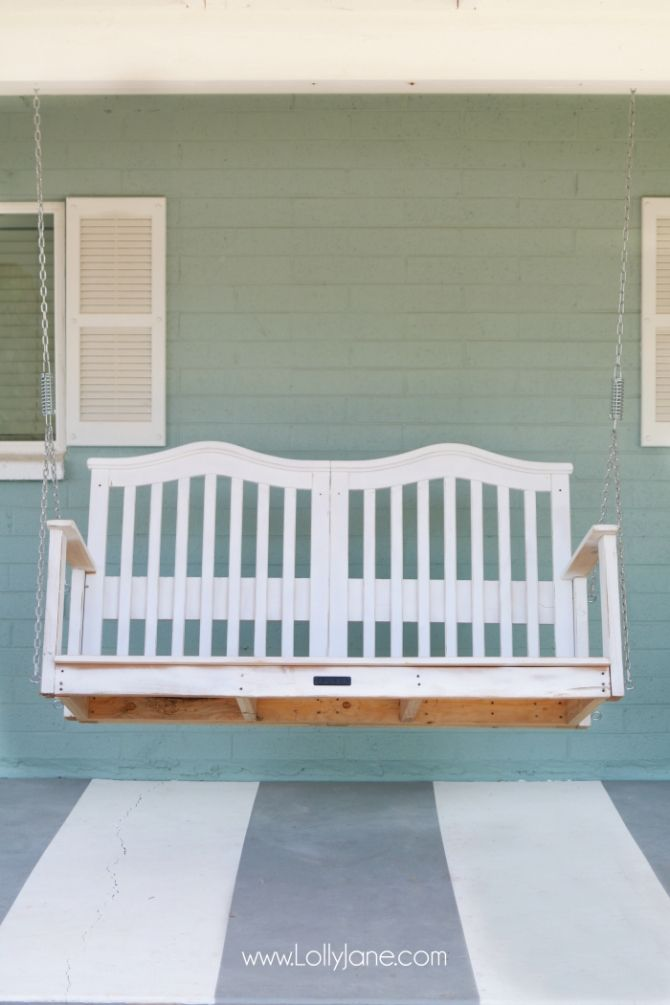baby crib to porch swing