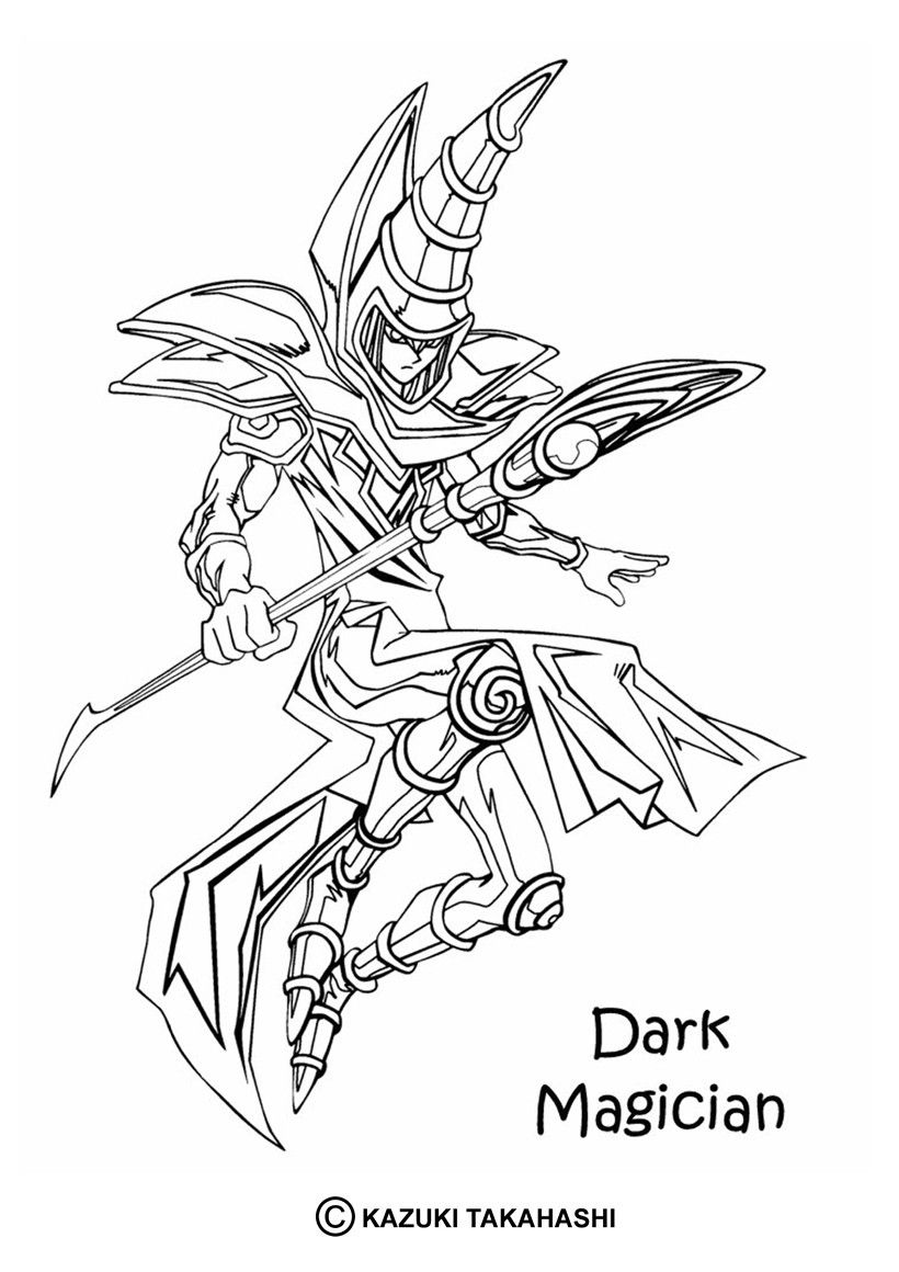 resultado de imagem para mago negro yugioh para colorir