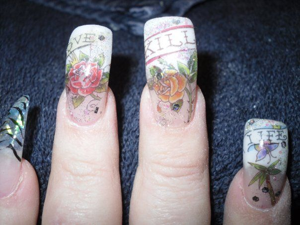 Image Detail For Ed Hardy Designs Nail Art Archive Style